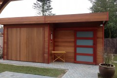Garage in hardhout